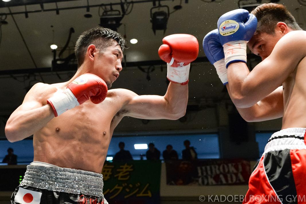 岡田 博喜(角海老宝石) vsジェイソン・パガラ(フィリピン)