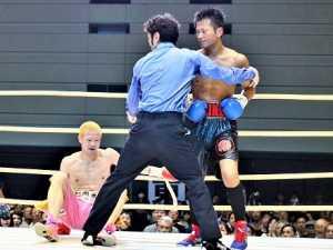 記事:永野祐樹が日本ウェルター級新チャンピオン ダウン応酬の激戦 矢田良太を突き放すの参考画像