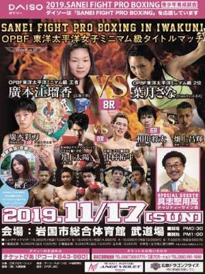 2019 SANEIFIGHT PROBOXING IN IWAKUNI ポスター画像01