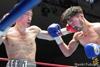 李 鎮宇(角海老宝石) VS ヤン・ジュンジャン(韓国) Photo by 福田直樹